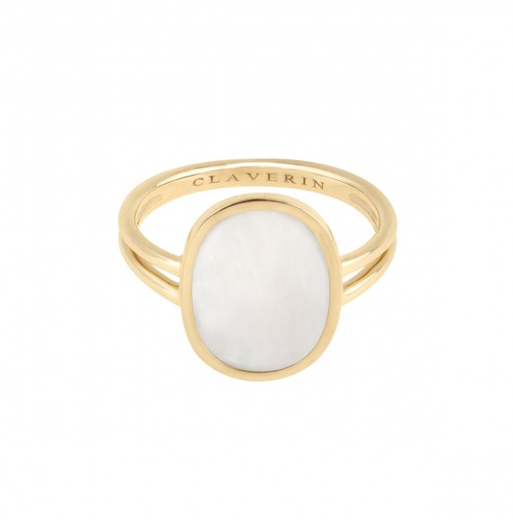 Organic white mother-of-pearl ring